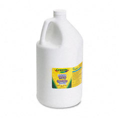 Crayola - washable paint, white, 1 gal, sold as 1 ea