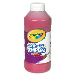 Crayola - artista ii washable tempera paint, red, 16 oz, sold as 1 ea