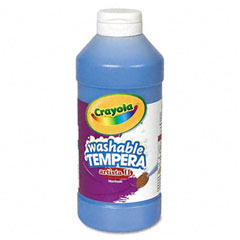 Crayola - artista ii washable tempera paint, blue, 16 oz, sold as 1 ea