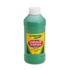 Crayola - artista ii washable tempera paint, green, 16 oz, sold as 1 ea