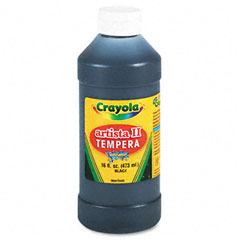 Crayola - artista ii washable tempera paint, black, 16 oz, sold as 1 ea
