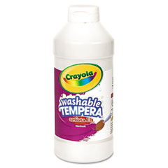 Crayola - artista ii washable tempera paint, white, 16 oz, sold as 1 ea