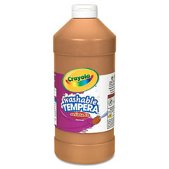 Crayola - artista ii washable tempera paint, brown, 32 oz, sold as 1 ea