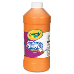 Crayola - artista ii washable tempera paint, orange, 32 oz, sold as 1 ea