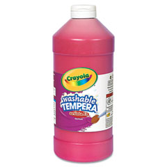 Crayola - artista ii washable tempera paint, red, 32 oz, sold as 1 ea