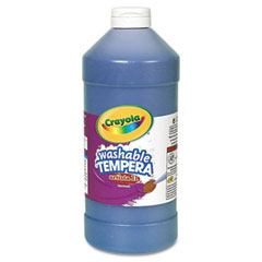 Crayola - artista ii washable tempera paint, blue, 32 oz, sold as 1 ea