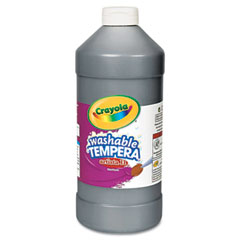 Crayola - artista ii washable tempera paint, black, 32 oz, sold as 1 ea
