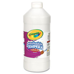 Crayola - artista ii washable tempera paint, white, 32 oz, sold as 1 ea