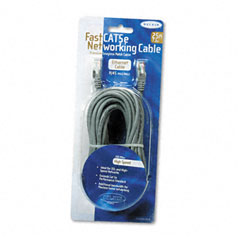 Belkin - fastcat 5e snagless patch cable, rj45 connectors, 25 ft., gray, sold as 1 ea