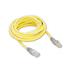 Belkin - cat5e crossover patch cable, rj45 connectors, 10 ft., yellow, sold as 1 ea