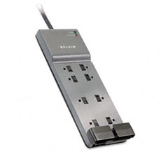 Belkin - office series surgemaster white surge protector, 8 outlets, 6ft cord, sold as 1 ea