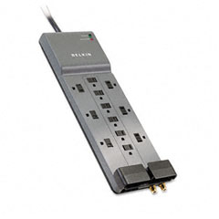 Belkin - professional series surgemaster surge protector, 12 outlets, 8ft cord, sold as 1 ea