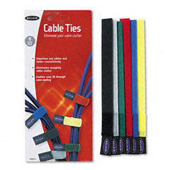 Belkin - multicolored cable ties, 6/pack, sold as 1 pk