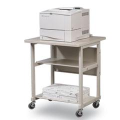 Balt - heavy-duty mobile laser printer stand, 3-shelf, 27w x 25d x 27-1/2h, gray, sold as 1 ea