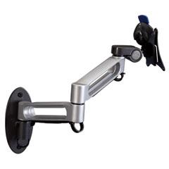 Balt - dual arm wall mount, steel/plastic, 17 x 15 x 7, gray/black, sold as 1 ea