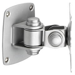 Balt - low profile wall mount for flat panel monitor, silver, sold as 1 ea