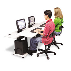 Balt - split-level computer training table, 72 x 36, steel base (box one), sold as 1 ea