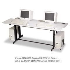 Balt - split-level computer training table, 72w x 36d x 33h, gray (box two), sold as 1 ea