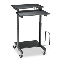 Balt - web a/v stand-up workstation, 34w x 31d x 44-1/2h, black, sold as 1 ea
