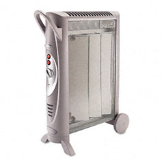 Bionaire - micathermic element 1500w console heater, 6w x 26-3/8d x 21-1/4h, sold as 1 ea