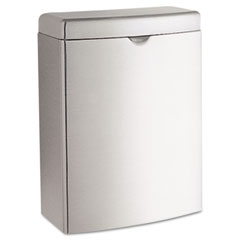 Bobrick - contura sanitary napkin receptacle, rectangular, stainless steel, 1 gal, sold as 1 ea