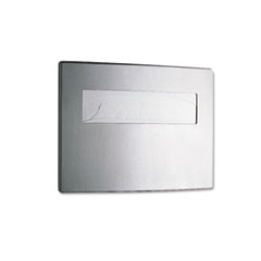 Bobrick BOB4221 Toilet Seat Cover Dispenser, 15 3/4 x 2 1/4 x 11 1/4, Satin Stainless Steel