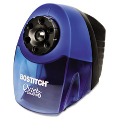 Stanley bostitch - quiet sharp 6 commercial desktop electric pencil sharpener, blue, sold as 1 ea