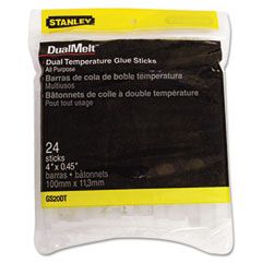 Stanley bostitch - dual temperature glue sticks, 4 in stick, 24/pack, sold as 1 pk
