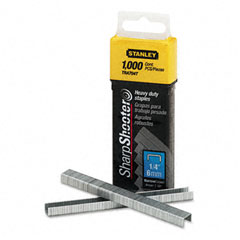 Stanley - sharpshooter 1/4 inch leg length staples, 1,000/box, sold as 1 bx