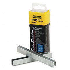 Stanley - sharpshooter 1/2 inch leg length staples, 1,000/box, sold as 1 bx