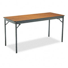 Barricks - special size folding table, rectangular, 60w x 24d x 30h, walnut, sold as 1 ea
