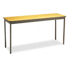 Barricks - utility table, rectangular, 60w x 18d x 30h, oak, sold as 1 ea