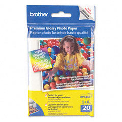 Brother - innobella premium glossy photo paper, 51 lbs., 4 x 6, 20/pack, sold as 1 pk