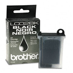 Brother BRTLC02BK LC02BK Ink, 750 Page-Yield, Black