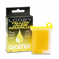 Brother BRTLC02Y LC02Y Ink, 400 Page-Yield, Yellow