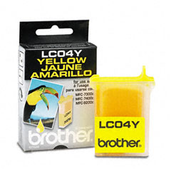 Brother BRTLC04Y LC04Y Ink, 410 Page-Yield, Yellow