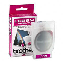 Brother BRTLC25M LC25M Ink, 400 Page-Yield, Magenta