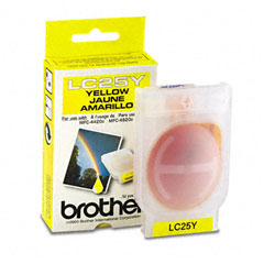 Brother BRTLC25Y LC25Y Ink, 400 Page-Yield, Yellow