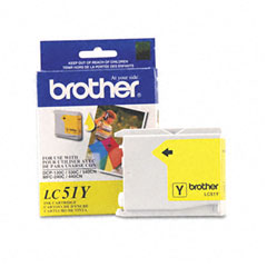 Brother LC51Y Lc51Y Innobella Ink, 400 Page-Yield, Yellow