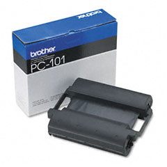 Brother - pc101 thermal ribbon cartridge, black, sold as 1 ea