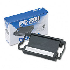 Brother PC-201 Pc201 Thermal Ribbon Cartridge, Black
