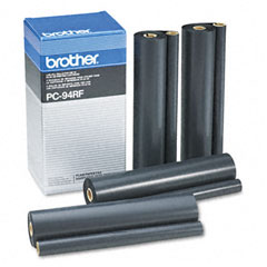 Brother BRTPC94RF PC94RF Thermal Ribbon Refill Roll, 4/Box, Black