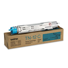 Brother BRTTN12C TN12C Toner, 6000 Page-Yield, Cyan