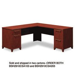 Bush - enterprise l-desk, 70-1/8w x 70d x 30h, harvest cherry, carton 1, sold as 1 ea