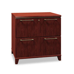 Bush - enterprise collection lateral file, 30w x 23-1/8d x 30h, harvest cherry, sold as 1 ea