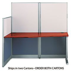Bush - office-in-an-hour straight workstation, 64-1/2w x 32-1/4d, hansen cy, box 1 of 2, sold as 1 ea