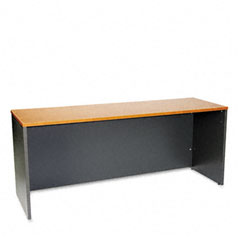 Bush WC72426 Series C Credenza, 71W X 23-3/8D X 29-7/8H, Natural Cherry/Graphite Gray