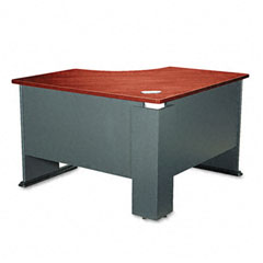 Bush - series a corner desk, 47-1/4w x 47-1/4d x 29-7/8h, hansen cherry/galaxy, sold as 1 ea