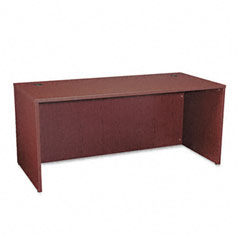 Basyx - bl laminate series rectangular desk shell, 66w x 30w x 29h, mahogany, sold as 1 ea