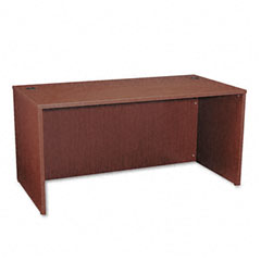 Basyx - bl laminate series rectangular desk shell, 60w x 30w x 29h, mahogany, sold as 1 ea